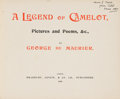 Books:Literature Pre-1900, George du Maurier. A Legend of Camelot, Pictures and Poems,&c., by George du Maurier. London: Bradbury, Agnew, &Co...