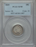 Bust Dimes: , 1835 10C XF40 PCGS. PCGS Population (57/467). NGC Census: (16/400).Mintage: 1,410,000. Numismedia Wsl. Price for problem f...