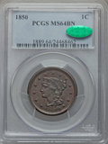 1850 1C MS64 Brown PCGS. CAC. PCGS Population (125/64). NGC Census: (136/128). Mintage: 4,426,844. Numismedia Wsl. Price...