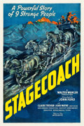 "Movie Posters:Western, Stagecoach (United Artists, 1939). One Sheet (27"" X 41"").. ..."