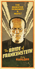 """Movie Posters:Horror, The Bride of Frankenstein by Arthur K. Miller (2013). Original Artwork Cloth Banners (2) (24.5"""" X 49"""").. ... (Total: 2 Items)"""