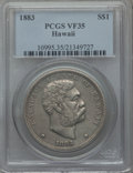 Coins of Hawaii: , 1883 $1 Hawaii Dollar VF35 PCGS. PCGS Population (50/610). NGCCensus: (24/343). Mintage: 500,000. ...