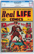 Golden Age (1938-1955):Non-Fiction, Real Life Comics #3 (Nedor Publications, 1942) CGC FN/VF 7.0Off-white to white pages....