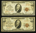 National Bank Notes:Maryland, Baltimore, MD - $10 1929 Ty. 1 The First NB Ch. # 1413. Baltimore,MD - $10 1929 Ty. 2 National Central Bank Ch.... (Total: 2 notes)