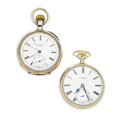 Timepieces:Pocket (post 1900), Borel & Courvoisier & G & M Simons Pocket WatchRunners. ... (Total: 2 Items)