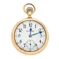 Timepieces:Pocket (post 1900), Illinois 17 Jewel Bunn 18 Size Pocket Watch. ...