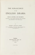Books:Reference & Bibliography, Henry Arthur Jones. LIMITED. The Renascence of the EnglishDrama... London: Macmillan and Co., 1895....