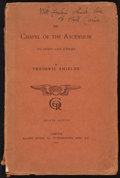 Books:Art & Architecture, [Hall Caine]. Frederic Shields. INSCRIBED. The Chapel of the Ascension. Its Story and Scheme. London: Elliot Sto...
