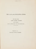 Books:Biography & Memoir, William Michael Rossetti, preface. UNPUBLISHED TYPESCRIPT. TheP.R.B. and Walter Howell Deverell. Letters from Dante Gab...