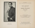 Books:Reference & Bibliography, [Auction Catalogs]. The Library of John Quinn. New York: TheAnderson Galleries, 1923-1924....