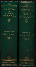 Books:Literature Pre-1900, [Percy Bysshe Shelley]. William Michael Rossetti, editor. ThePoetical Works of Percy Bysshe Shelley. London: E. Mox...(Total: 2 Items)