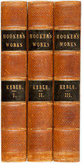 Books:Biography & Memoir, Isaac Walton. The Works of That Learned and Judicious Divine,Mr. Richard Hooker: With an Account of His Life and ...(Total: 3 Items)