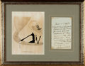 Autographs:Celebrities, [Theatre]. Squire Bancroft, English actor (1841-1926). FramedAutograph Letter Signed. Dated June 22, 1895. ...