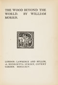 Books:Literature Pre-1900, William Morris. The Wood Beyond the World. London: Lawrenceand Bullen, 1895....