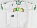 Basketball Collectibles:Uniforms, 1996-97 Greg Minor Game Worn Boston Celtics Warmup Jacket....