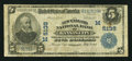 National Bank Notes:Missouri, Kansas City, MO - $5 1902 Plain Back Fr. 606 The New England NB Ch.# (M)5138. ...