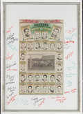 Football Collectibles:Others, Green Bay Packers Legends Multi Signed Display....