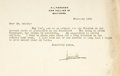 Autographs:Authors, Journalist H.L. Mencken Typed Letter Signed....