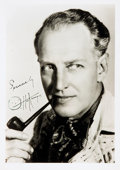 Autographs:Celebrities, Actor Otto Kruger Photograph Signed....