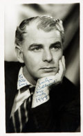 Autographs:Celebrities, Actor Emlyn Williams Signed Photograph....