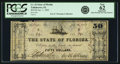Obsoletes By State:Florida, Tallahassee, FL - State of Florida $50 Jan. 1, 1865 Cr. 42, Benice 37. PCGS New 62 Apparent.. ...