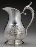 Silver Holloware, American:Water Pitchers, A Wood & Hughes Coin Silver Medallion Water Pitcher, NewYork, New York, circa 1868.. Marks: W & H, 900/1000...