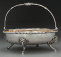 Silver Holloware, American:Baskets, A John Wendt Partial Gilt Silver Medallion Footed CakeBasket, New York, New York, circa 1860. Marks: 925/1000...