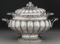 Silver Holloware, Continental, A Luigi Genazzi Italian Silver Covered Tureen, Milan, Italy, circa1949. Marks: 800, (clover), (23-fascio-effaced mark-I...(Total: 2 Items)