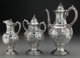 A Three Piece William Gale & Son Coin Silver Coffee Service, New York, New York , circa 1856 Marks: WM. GALE &am...
