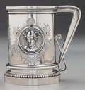 Silver Holloware, American:Cups, A John Wendt Partial Gilt Silver Medallion Cup, New York,New York, circa 1860. Marks: 925/1000 (in shield)...