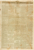 Miscellaneous:Newspaper, [War of 1812]. Newspaper: Independent Chronicle....