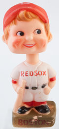 Baseball Collectibles:Others, 1970s Boston Red Sox Nodder and Box....