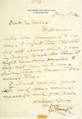 Autographs:Military Figures, Arctic Explorer General David L. Brainard Autograph Letter Signed....