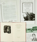 Autographs:Celebrities, [Vincent Price]. [Oscar Wilde]. Pair of INSCRIBED Theater Programsfrom Vincent Price's Depiction of Oscar Wilde in Dive... (Total:2 Items)