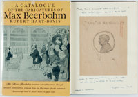 [Featured Lot]. [Max Beerbohm]. Rupert Hart-Davis, editor. SIGNED/INSCRIBED. A Catalogue of the Caricatures of
