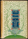 Books:Biography & Memoir, [Ford Madox Brown]. Ford M. Hueffer. Ford Madox Brown. A Recordof His Life and Work. London, New York, and Bomb...