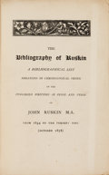 Books:Reference & Bibliography, [John Ruskin]. Richard Herne Shepherd. The Bibliography ofRuskin. A Bibliographical List Arranged in ChronologicalOrde...