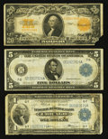 Large Size:Group Lots, A Trio of Large Size Type Notes.. ... (Total: 3 notes)