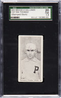 Baseball Cards:Singles (Pre-1930), 1903 E107 Breisch Williams Roy Thomas, Ad/Stamped Back SGC 20 Fair1.5. ...
