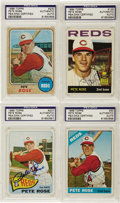 Autographs:Sports Cards, 1964-68 Topps Pete Rose Signed Cards Lot of 4. The earliest Toppscards dedicated to the man who would be King. Note that ...