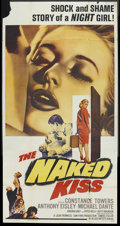 "Movie Posters:Drama, The Naked Kiss (Allied Artists, 1964). Three Sheet (41"" X 81""). Drama. ..."