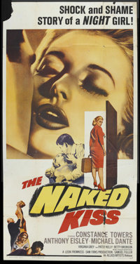 "The Naked Kiss (Allied Artists, 1964). Three Sheet (41"" X 81""). Drama"