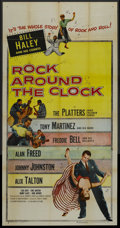"Movie Posters:Rock and Roll, Rock Around the Clock (Columbia, 1956). Three Sheet (41"" X 81"").Rock and Roll. ..."