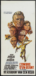 """Movie Posters:War, Cast a Giant Shadow (United Artists, 1966). Belgian (13.5"""" X28.5""""). War. ..."""
