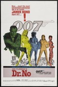 "Movie Posters:James Bond, Dr. No (United Artists, 1962). One Sheet (27"" X 41""). James Bond. ..."