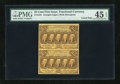 Fractional Currency:First Issue, Fr. 1281 25c First Issue Uncut Vertical Pair PMG Choice ExtremelyFine 45 EPQ.... (Total: 2 notes)