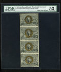 Fractional Currency:Second Issue, Fr. 1246 10c Second Issue Uncut Strip of Four PMG About Uncirculated 53.... (Total: 4 notes)