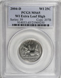 Statehood Quarters: , 2004-D 25C Wisconsin Extra Leaf High MS65 PCGS. PCGS Population(634/90). (#914033)...