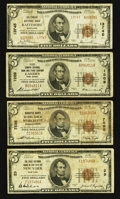 National Bank Notes:Maryland, A Quartet of Series 1929 $5 Nationals.. ... (Total: 4 notes)