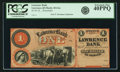 Obsoletes By State:Kansas, Lawrence, KS - Lawrence Bank $1 18__ KS-40 G2a, Whitfield 213. Remainder. PCGS Extremely Fine 40 PPQ.. ...